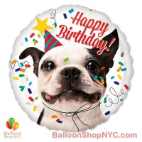 Happy Birthday Funny Dog Mylar Balloon 18 Inch Inflated high-quality cheap balloons nyc delivery