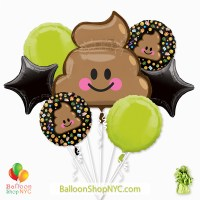 Lol Poop Party Foil Balloon Bouquet Inflated high-quality cheap balloons nyc delivery
