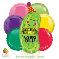 No Big Dill Jumbo Fun Mylar Balloon Bouquet Inflated high-quality cheap balloons nyc delivery