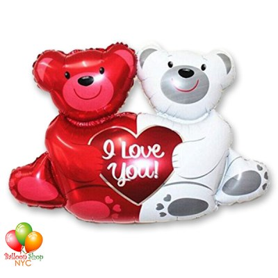 Love Bears Valentines Supershape Balloon 35 Inch Inflated Delivery from Balloon Shop NYC