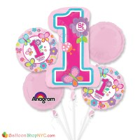 St Birthday Butterfly Balloon Bouquet from Balloon Shop NYC delivery in New York, Brooklyn and Queens