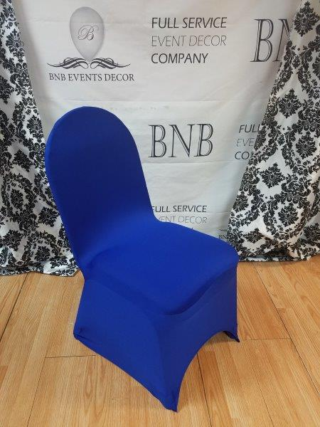 Pleasant Royal Blue Spandex Chair Covers Bnb Events Decor Caraccident5 Cool Chair Designs And Ideas Caraccident5Info
