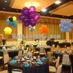 Table centerpieces for a large Prom