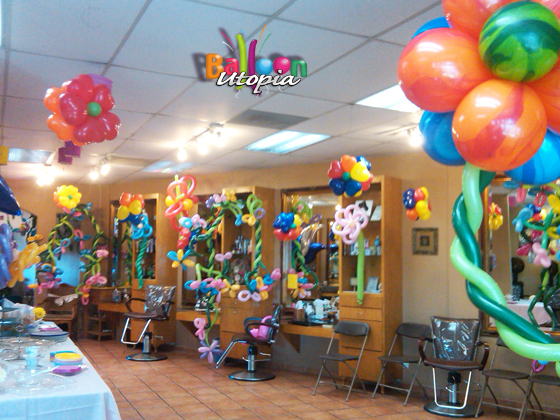 San Diego Flower Theme Decor By Balloon Utopia