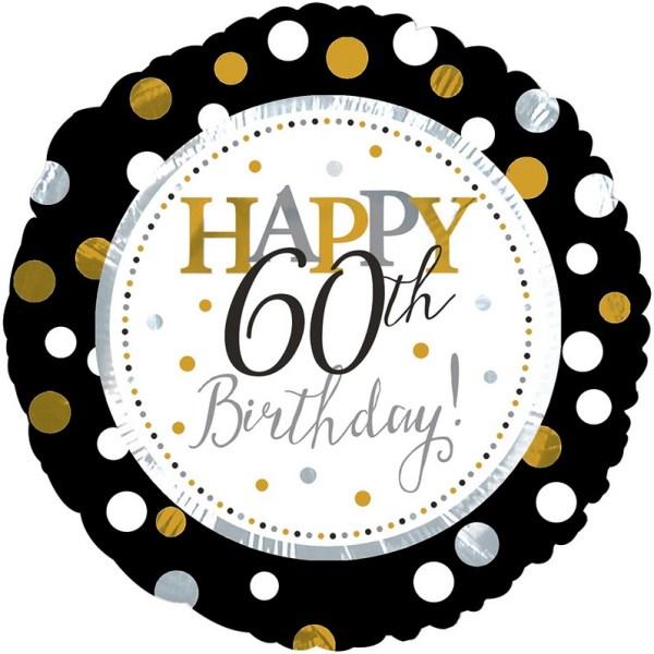 "18"" silver & gold birthday 60th"