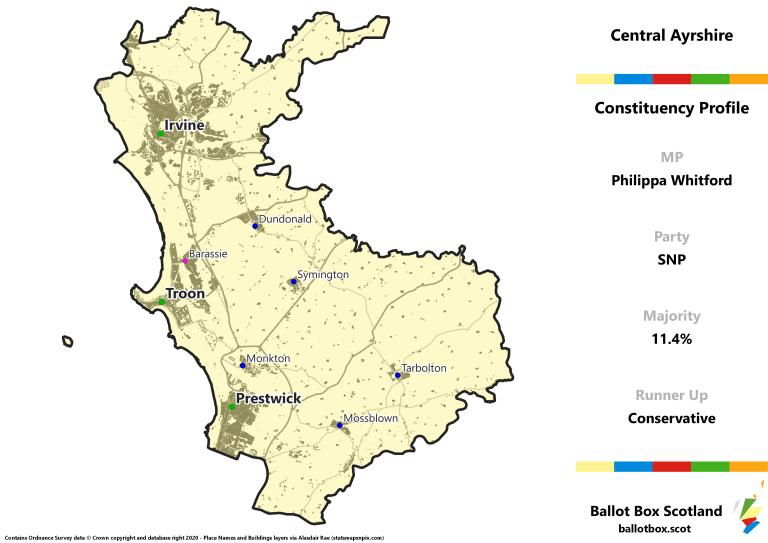 Central Ayrshire Constituency Map