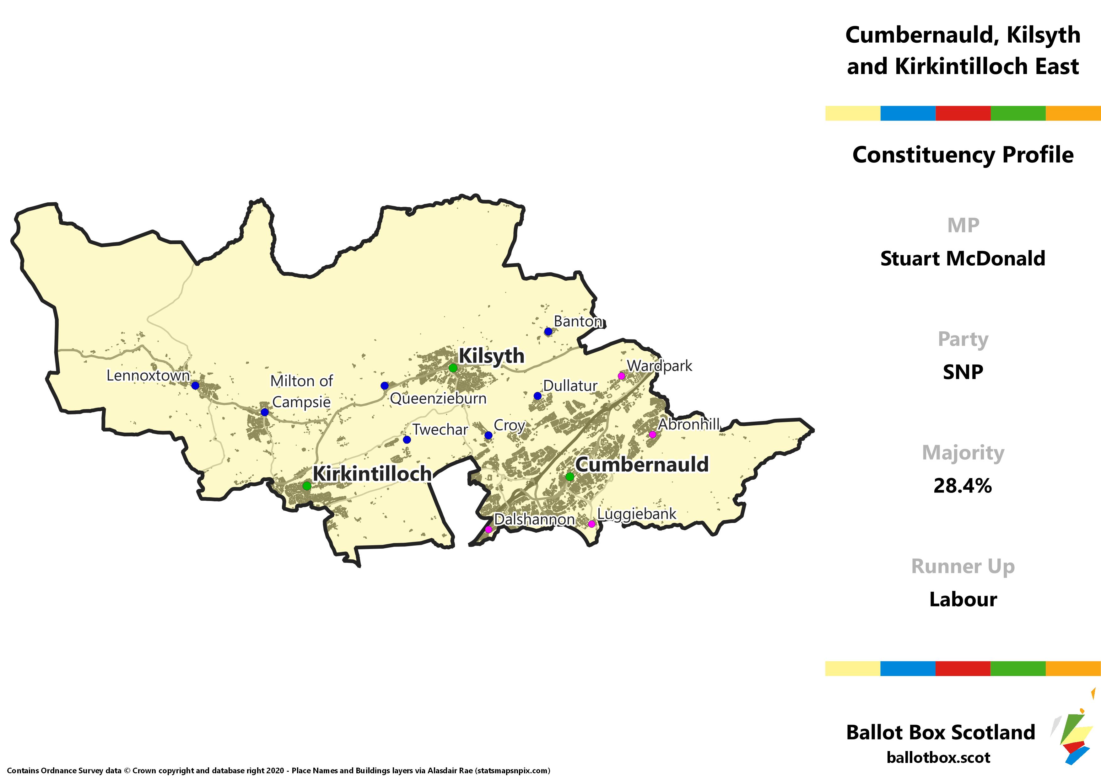 Cumbernauld, Kilsyth and Kirkintilloch East Constituency Map