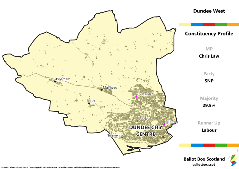 Dundee West Constituency Map