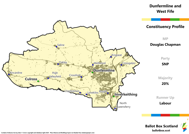 Dunfermline and West Fife Constituency Map