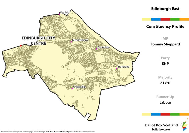 Edinburgh East Constituency Map
