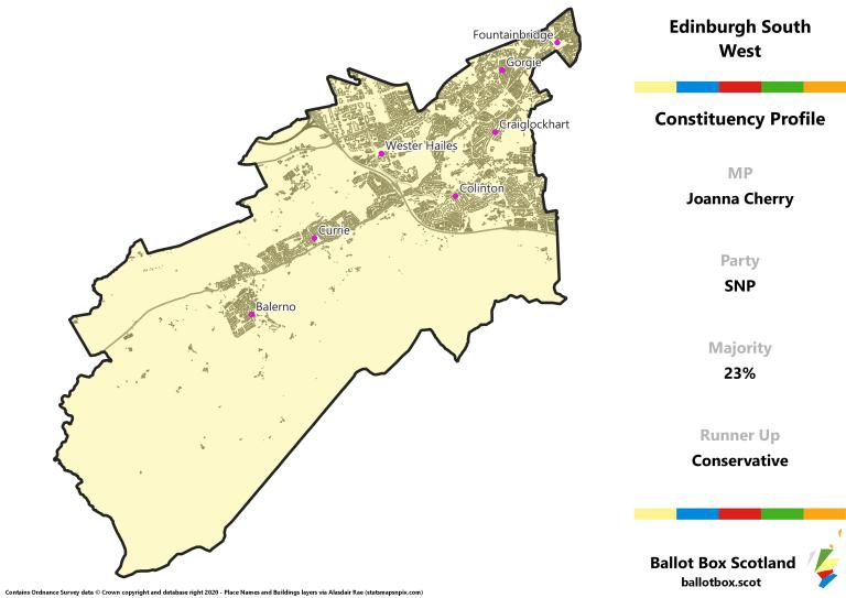 Edinburgh South West Constituency Map