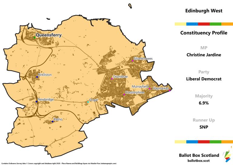 Edinburgh West Constituency Map