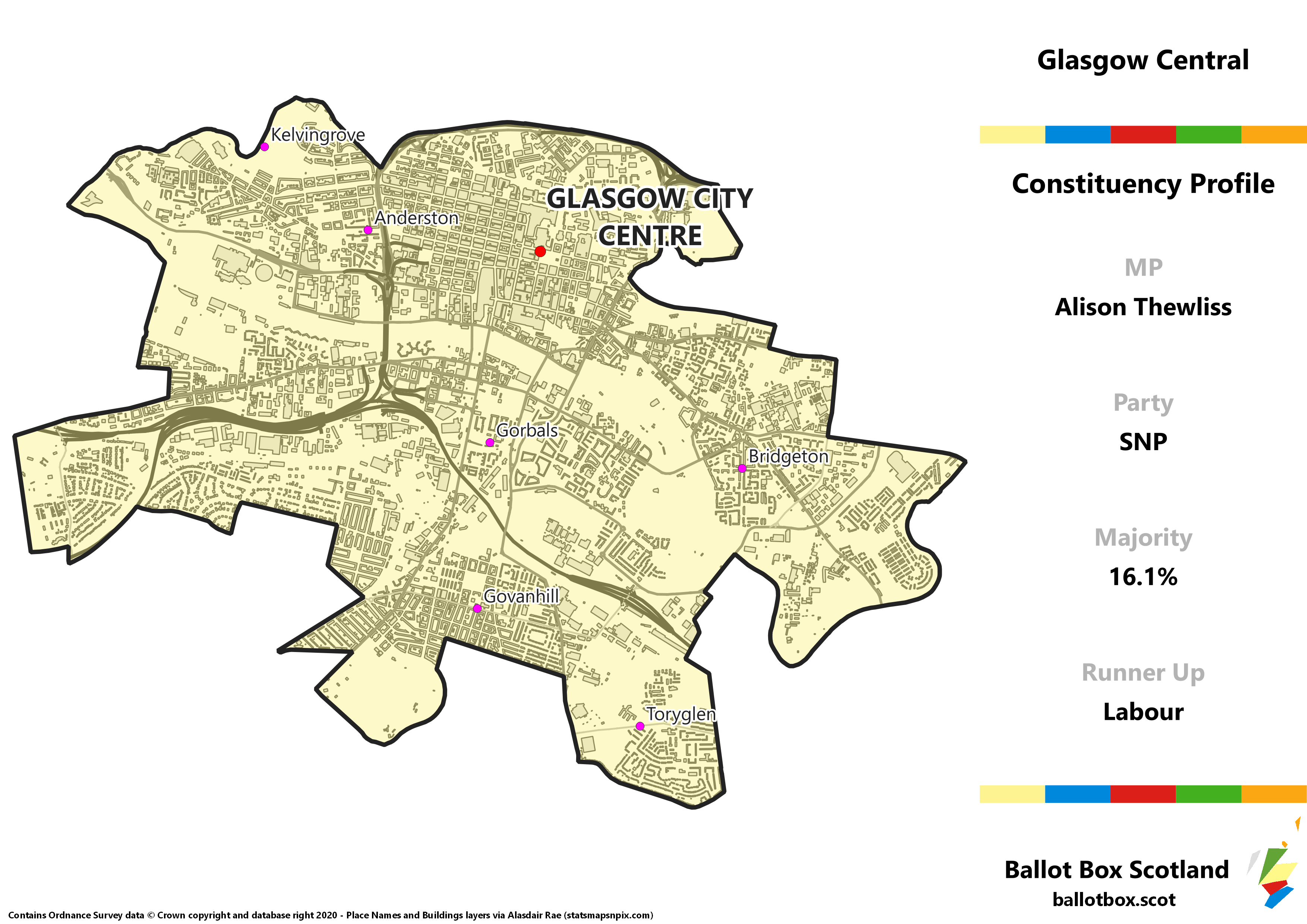 Glasgow Central Constituency Map