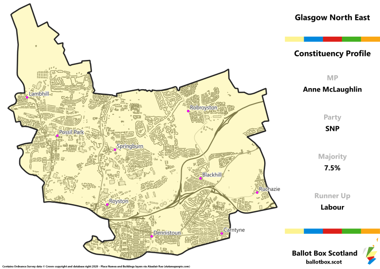 Glasgow North East Constituency Map