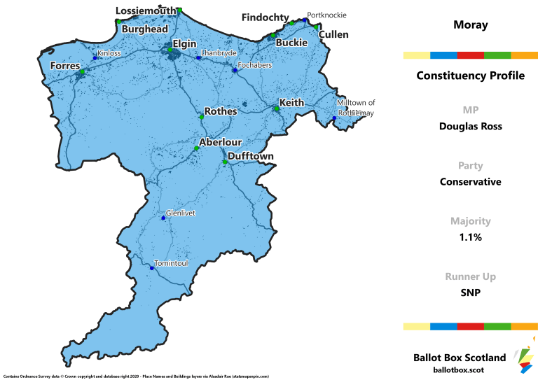 Moray Constituency Map