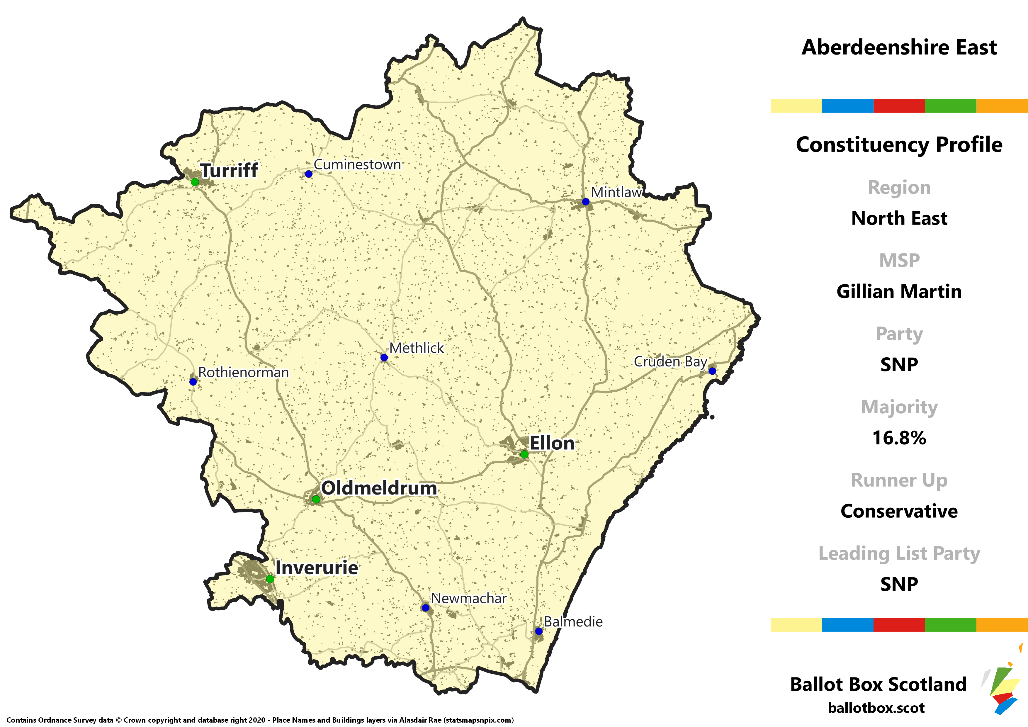 North East Region – Aberdeenshire East Constituency Map