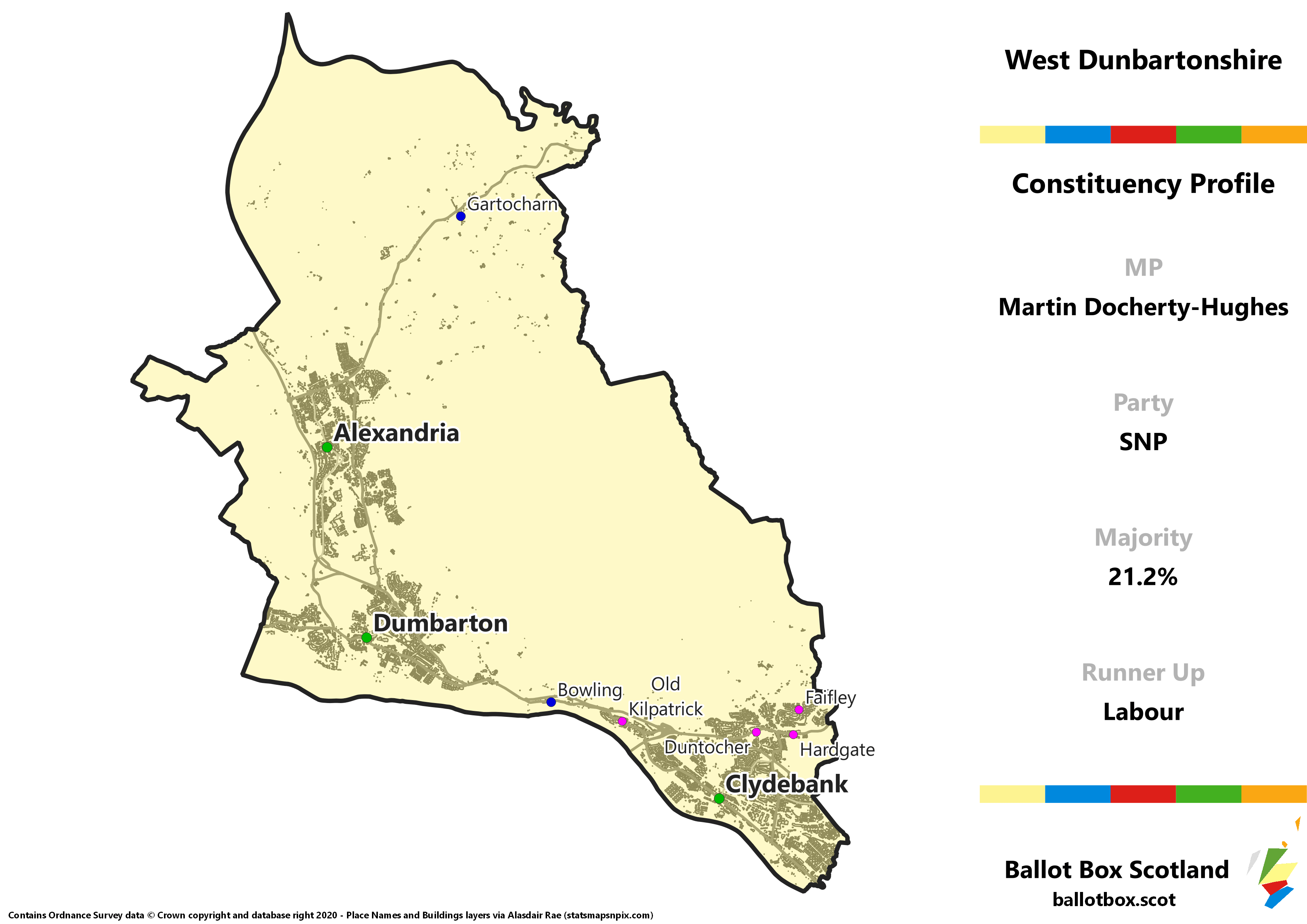 West Dunbartonshire Constituency Map