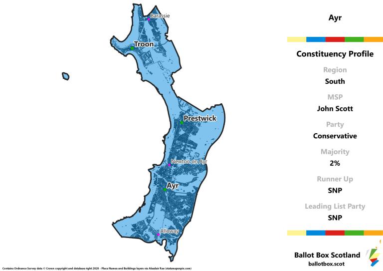 South Region - Ayr Constituency Map