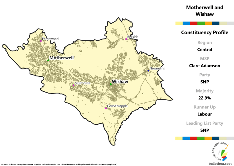 Central Region - Motherwell and Wishaw Constituency Map