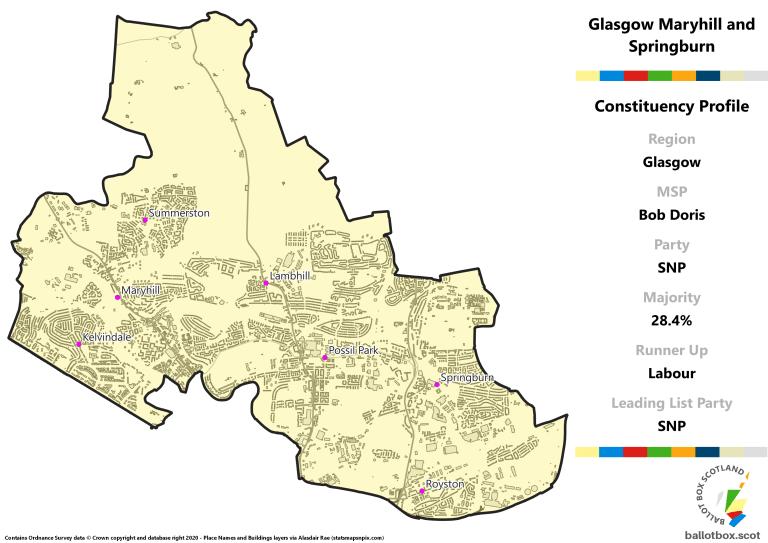 Glasgow Region - Glasgow Maryhill and Springburn Constituency Map