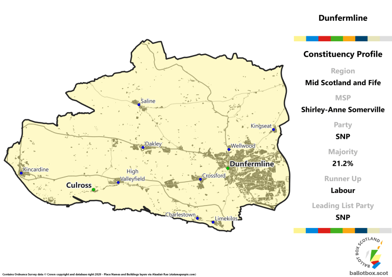 Mid Scotland and Fife Region - Dunfermline Constituency Map