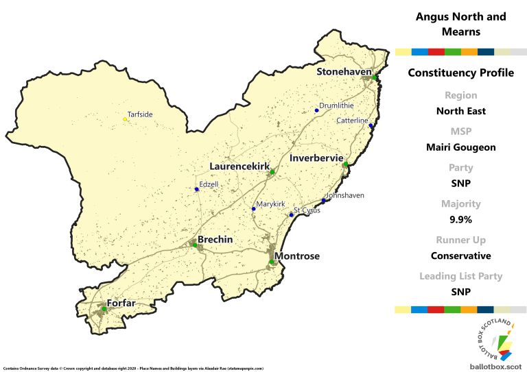 North East Region - Angus North and Mearns Constituency Map
