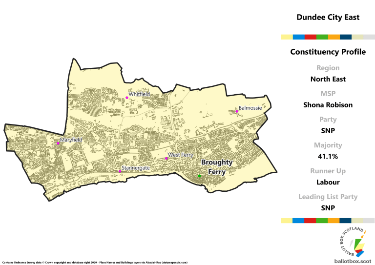 North East Region - Dundee City East Constituency Map