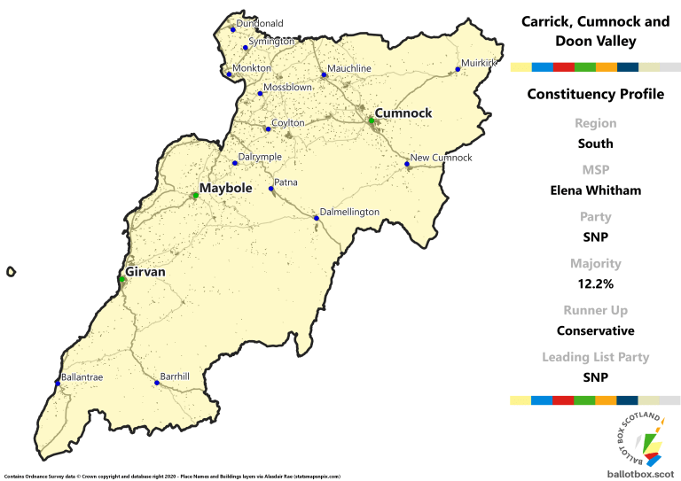 South Region - Carrick, Cumnock and Doon Valley Constituency Map