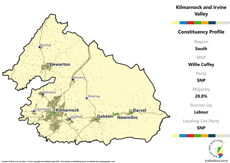 South Region - Kilmarnock and Irvine Valley Constituency Map