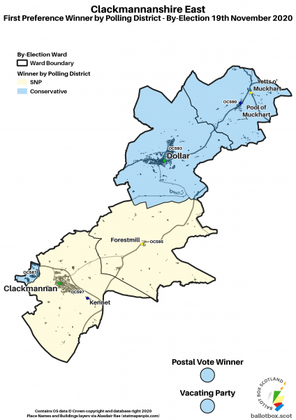 Clackmannanshire East Polling Districts Map