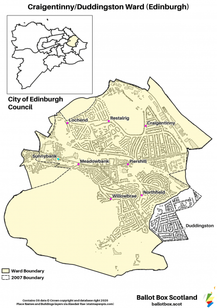 Craigentinny Duddingston Ward Map