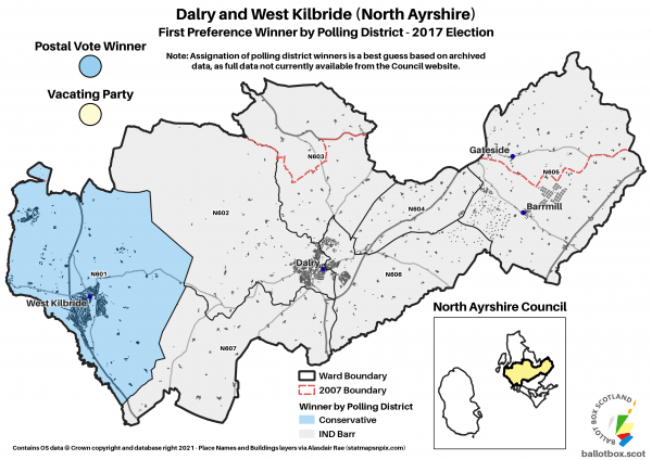 Dalry and West Kilbride Ward Map 2017