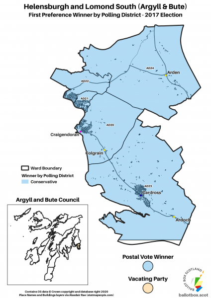 Helensburgh and Lomond South Ward Map