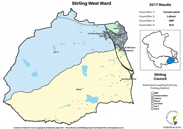 Stirling West Ward Map 2017 NEW