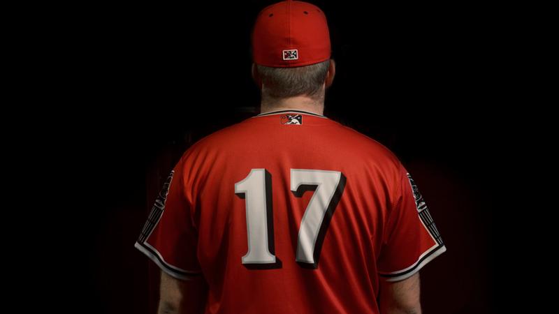 Nashville Sounds red jersey