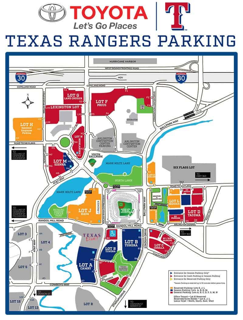 Att Parking Map : parking, Globe, Arlington, Where, Park,, Cheap, Tickets