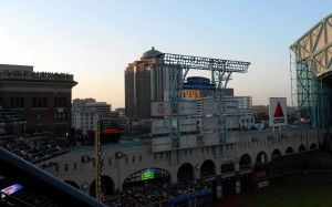 If I ran the Astros the eyesore billboards in the outfield would go away. Here's to hoping new team President Reid Ryan shares that view and restores the skyline view in Minute Maid Park. Photo R. Anderson