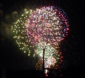 More fireworks. Photo R. Anderson