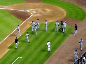 Minute Maid Park became the third ballpark to watch the Rays in when I saw them take on the Houston Astros in 2011. Photo R. Anderson