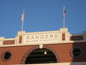 Historically Rangers Ballpark in Arlington has not been kind to the Tampa Bay Rays. Photo R. Anderson