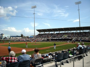 With great seats located all around the Ballpark there really are no bad seats to see the Rays in action. Photo R. Anderson