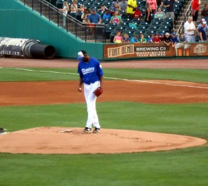 Tracy McGrady made his professional baseball debut last Saturday for the Sugar Land Skeeters. Photo R. Anderson