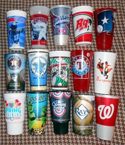 If one had the chance to visit 15 Ballparks in a single night, and got a cup to take home as a memento, they would have a lot of soda to drink. With the average souvenir cup clocking in at 32 ounces, one would end up drinking 480 ounces of soda if they got a souvenir cup at each Ballpark. Add in the free refill option at some Ballparks and one is looking at downing a serious amount of cola during their night of Ballpark bliss. How serious of an amount of color? Considering that there are 128 ounces in a gallon, one would consume around 3.75 gallons of soda if they went with the souvenir soda at each of the 15 Ballparks. Photo R. Anderson