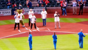 Saturday's Houston Astros game started with three astronauts throwing out ceremonial pitches and ended with a frantic search for a lost wallet. Photo R. Anderson