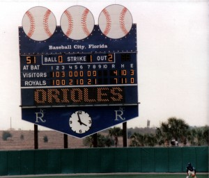 Tinker Field becomes the third ballpark from my youth to be torn down joining Memorial Stadium in Baltimore and Baseball City Stadium in Haines City, Florida.  Photo R. Anderson
