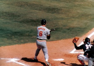 For several years one of the highlights of my birthday was seeing Cal Ripken, Jr. and the Baltimore Orioles play at Tinker Field. Photo R. Anderson
