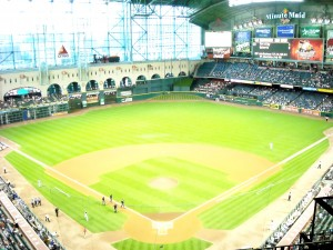 Next season the outfield at Minute Maid Park will look very different. Photo R. Anderso