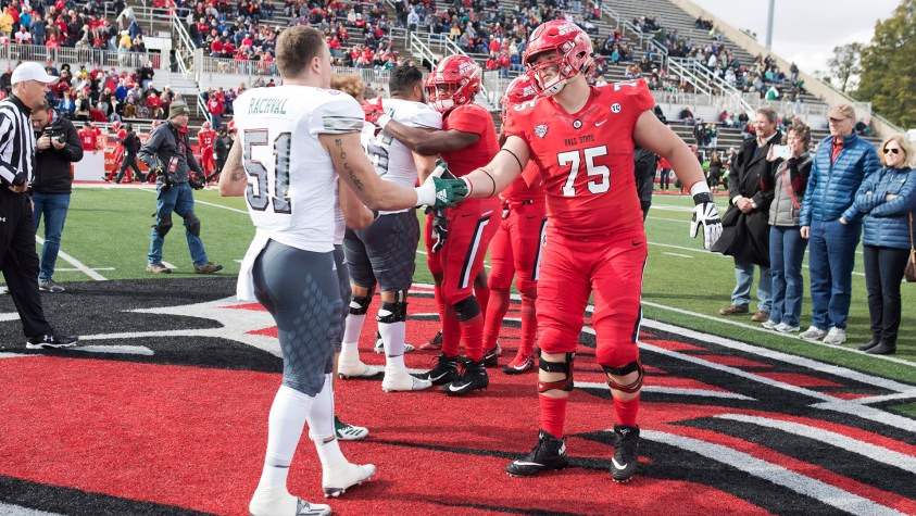 Ball State's Danny Pinter was selected by the Indianapolis Colts in the 2020 NFL Draft.