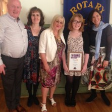 Rebecca McMinn, winner of the All-Ireland Rotary Young Writers competition
