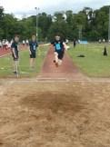 Chris Nesbitt in long jump action